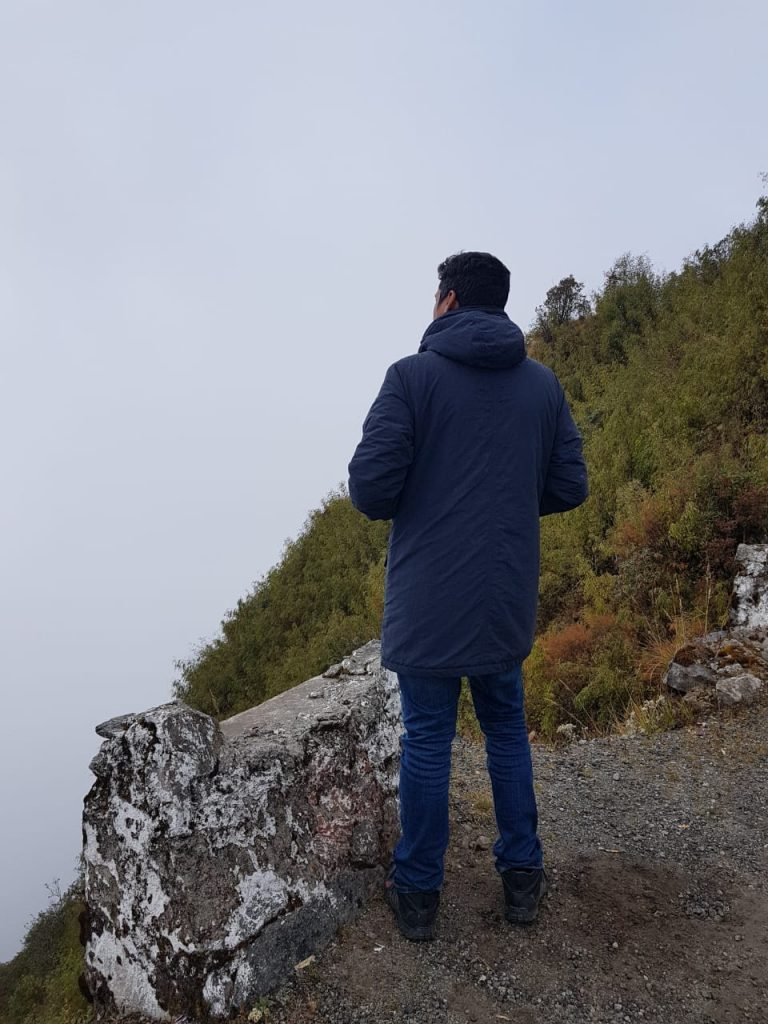 looking at the clouds
